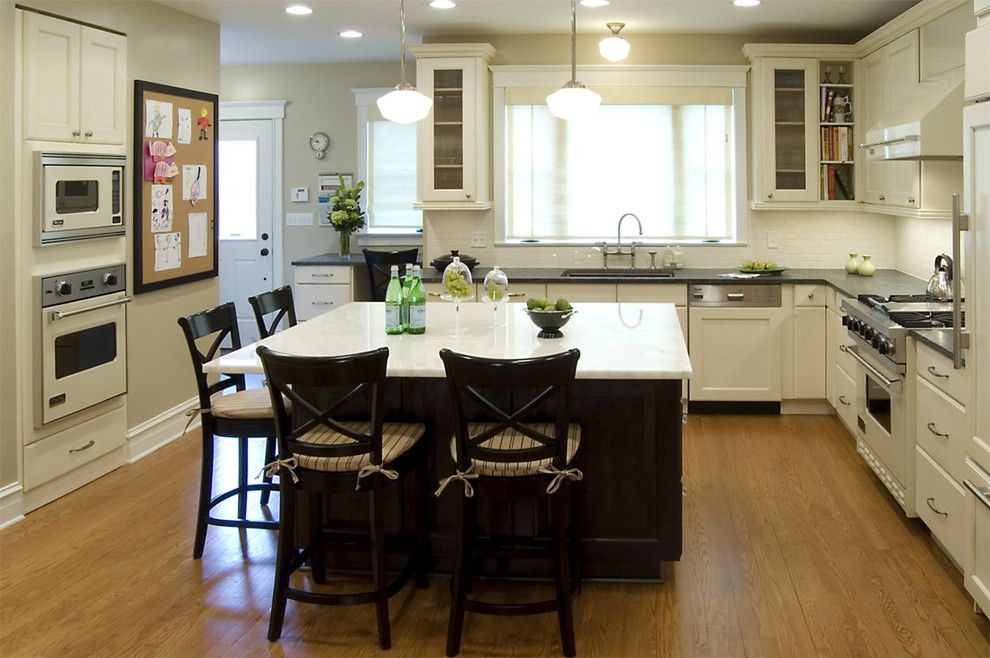 Crate and Barrel Customer Service for a Traditional Kitchen with a Tile Backsplash and Lincoln Square Family Kitchen by Claudia Martin, Asid