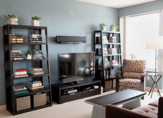 Crate and Barrel Walnut Creek for a Contemporary Family Room with a West Elm and 24th Floor Condo by Ccb Designs