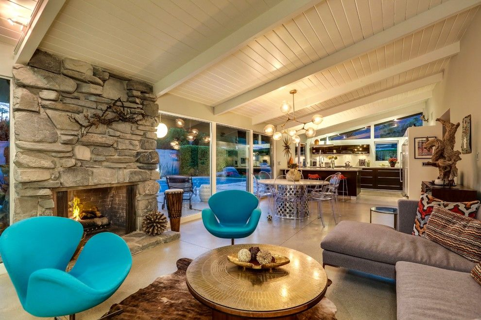 Crate and Barrel Walnut Creek for a Midcentury Family Room with a Alexander Home and Desert Soul Mid Century by Moderne Builders