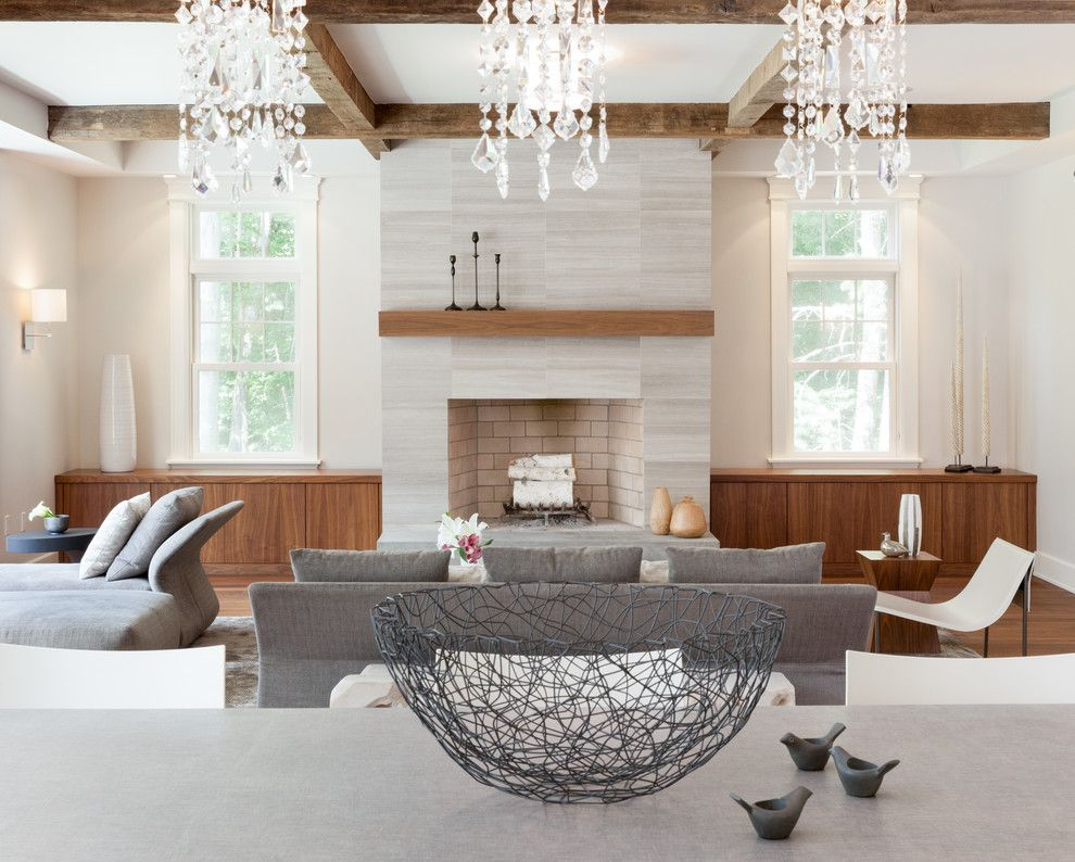 Crate and Barrel Walnut Creek for a Transitional Living Room with a Neutral and Norwell Residence by RÜme