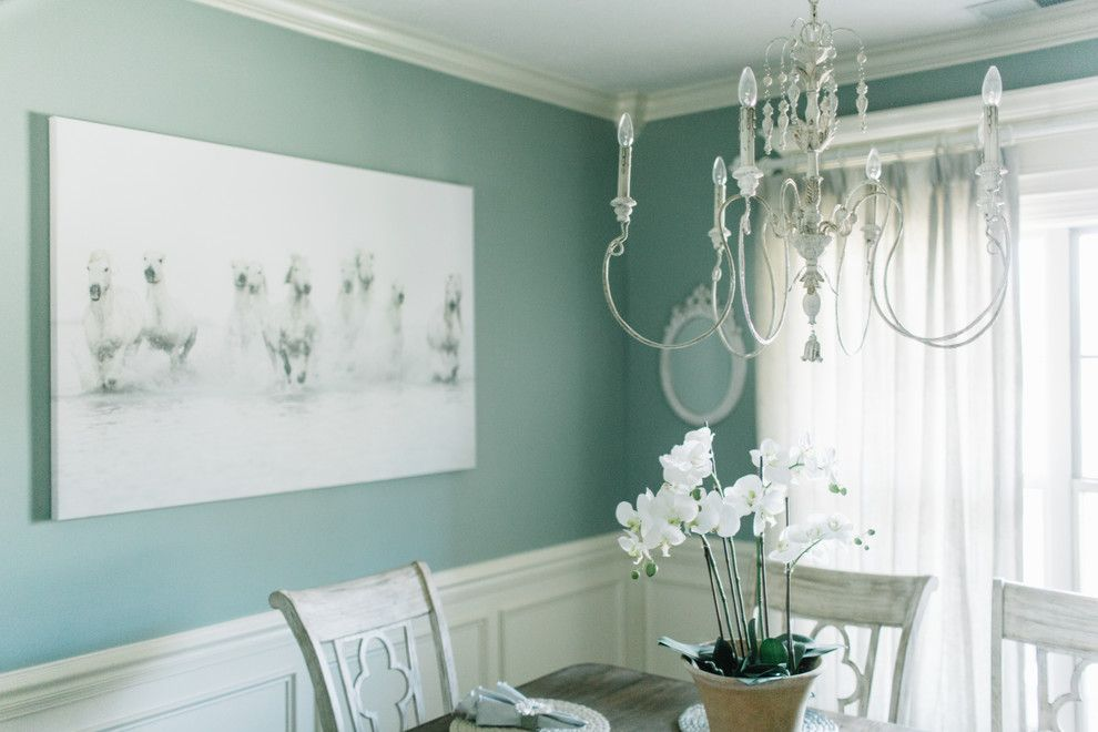 Crazy Horse Nashville for a Shabby Chic Style Dining Room with a Chandalier and Kelley Home Refresh by Alexandra Lauren Designs