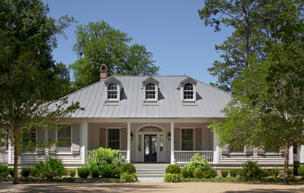Crescent Springs Hardware for a Traditional Exterior with a Creole Cottage and Lowcountry Creole   Spring Island, South Carolina by Historical Concepts