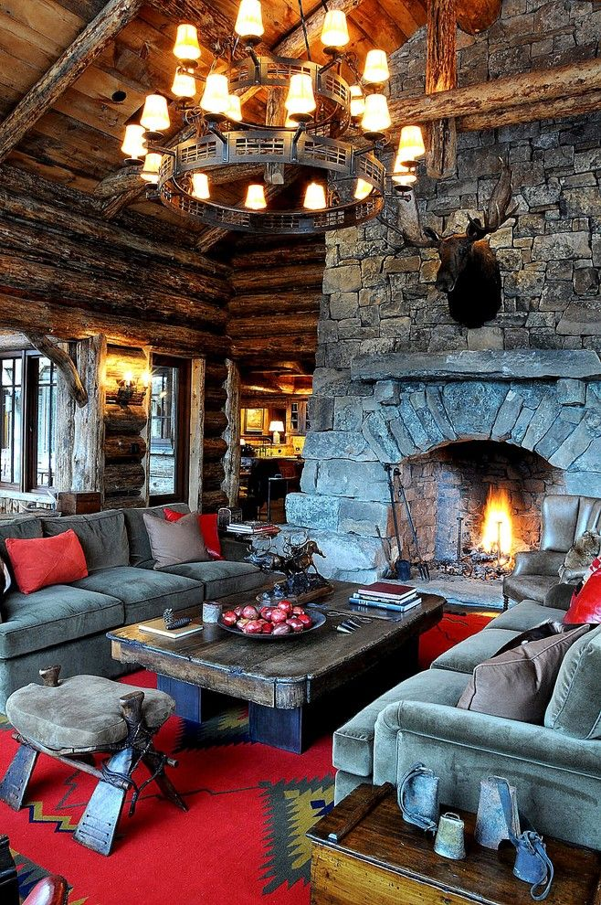 Cresta Bella for a Rustic Living Room with a High Ceilings and Living Room by Peace Design