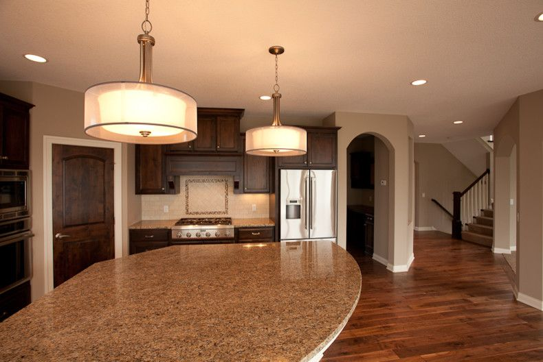 Cresta Bella for a Traditional Kitchen with a Hand Scraped Wood Floors and