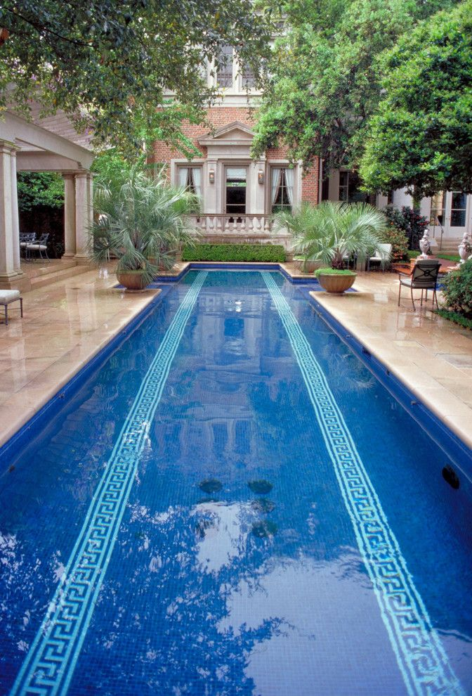 Cresta Bella for a Traditional Pool with a Lap Pool and Houston Southern Estate by Mcdugald Steele