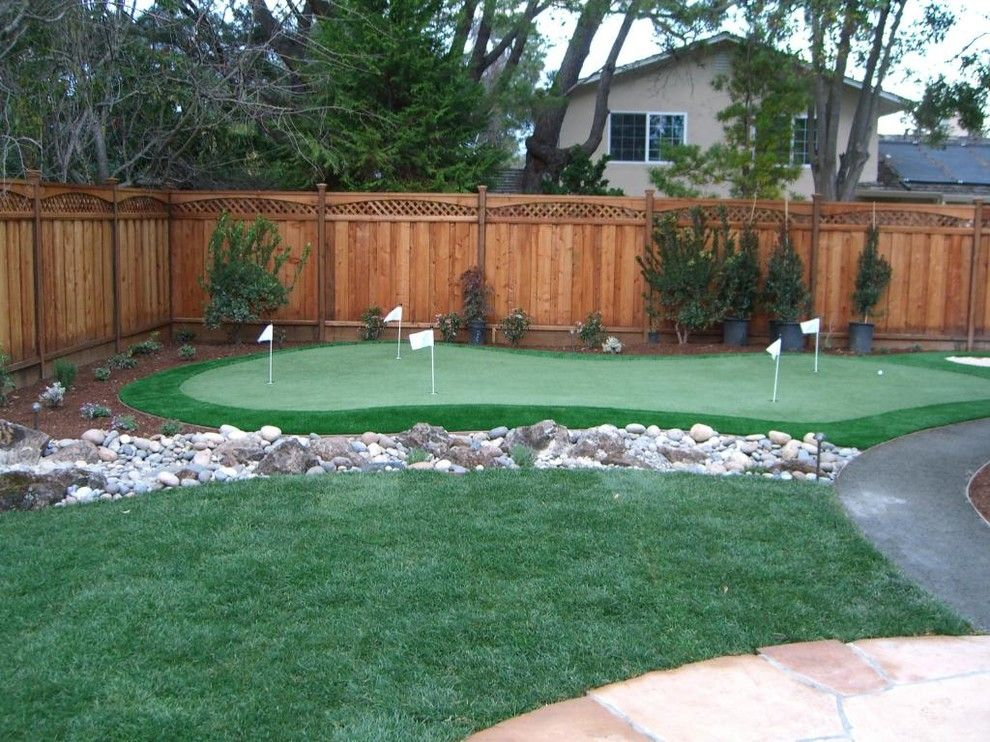 Crooked Creek Golf Course for a Traditional Landscape with a Artificial Turf and Golf and Putting Greens by Heavenly Greens