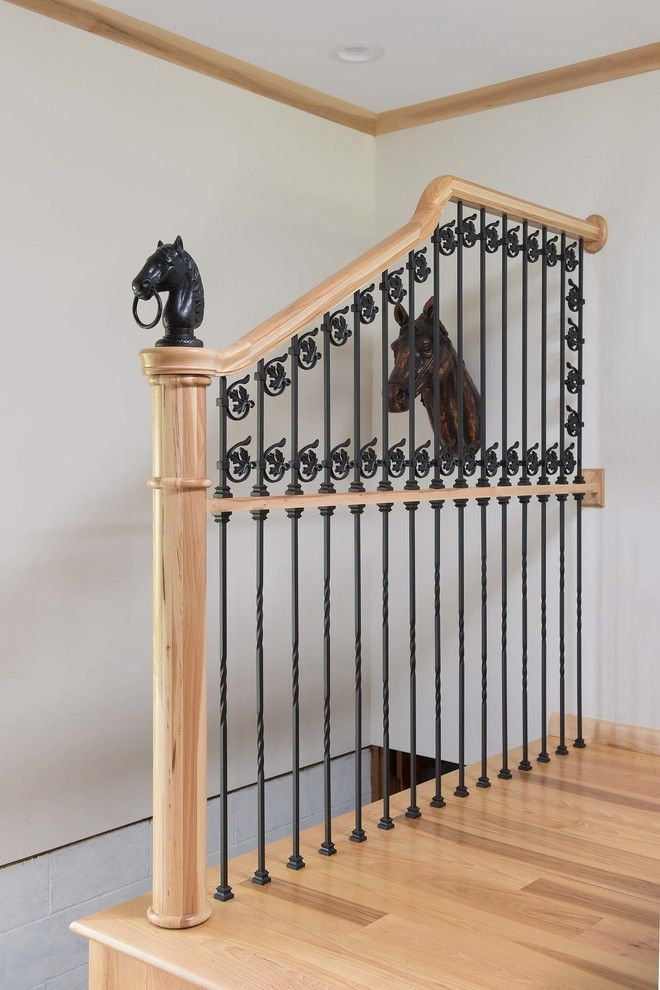 C&s Supply for a Eclectic Staircase with a Custom and Horse Gate Iron and Railing Wall by Carolina Stair Supply