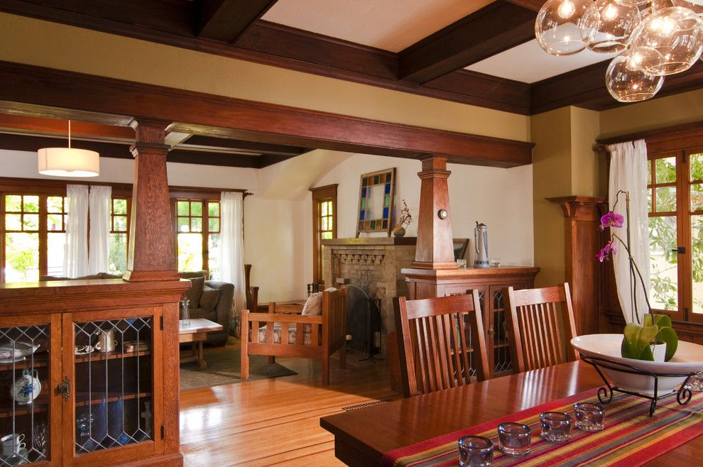 Cuddle Down for a Craftsman Dining Room with a Craftsman and Bali Construction by Bali Construction