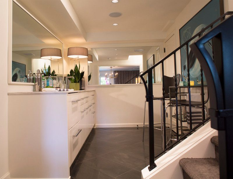 Cumberland Furniture for a Transitional Basement with a Transitional and Cumberland Basement Remodel by Lord Design