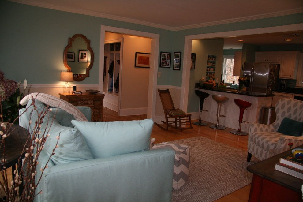 Cumberland Furniture for a Transitional Family Room with a Shabby Chic and Cumberland Home by See in Color