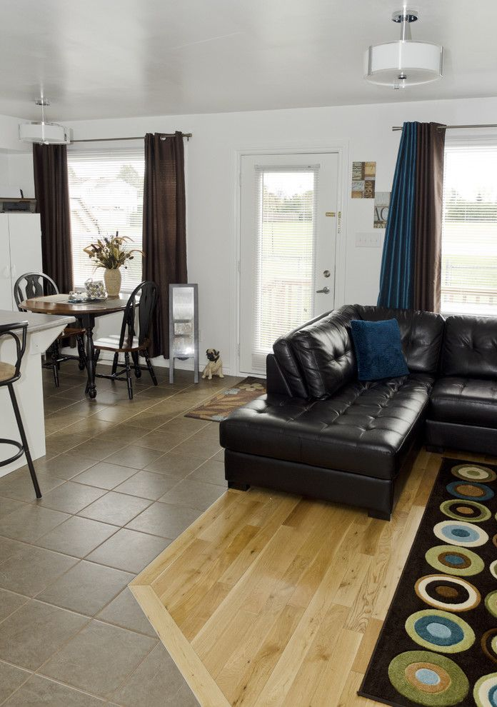 Cumberland Transit for a Contemporary Living Room with a Tile and Cumberland Affordable Housing by Jane Thompson Architect