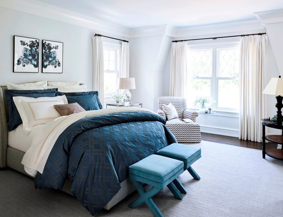 Cumberland Transit for a Transitional Bedroom with a Transitional and Frette Sincro Bedding Collection by Bloomingdale's