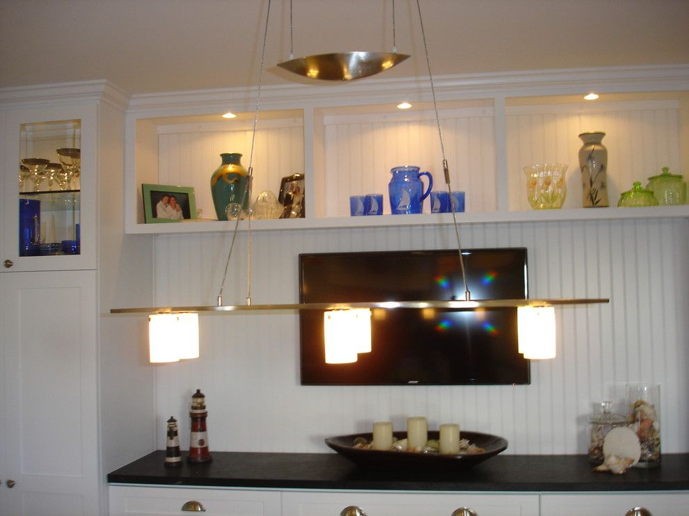 Cummings Electric for a  Dining Room with a Chandelier Adjustable and Meyer Residence by Mcnally Electric Inc.
