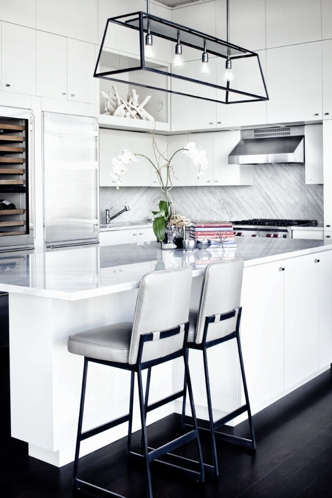 Curations for a Contemporary Kitchen with a Masculine and Contemporary Kitchen by Gathinteriordesign.com