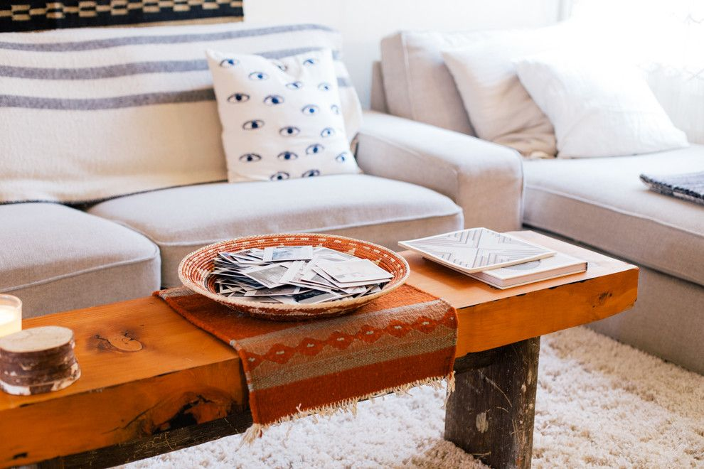 Curations for a Eclectic Living Room with a Vintage and My Houzz: The Inspired Home of Artists by Nanette Wong