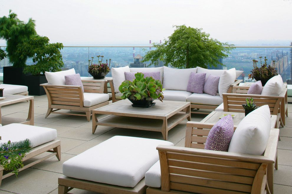 Cusion for a Contemporary Deck with a Container Plants and Duane Kaschak, Id by Duane Kaschak, Id
