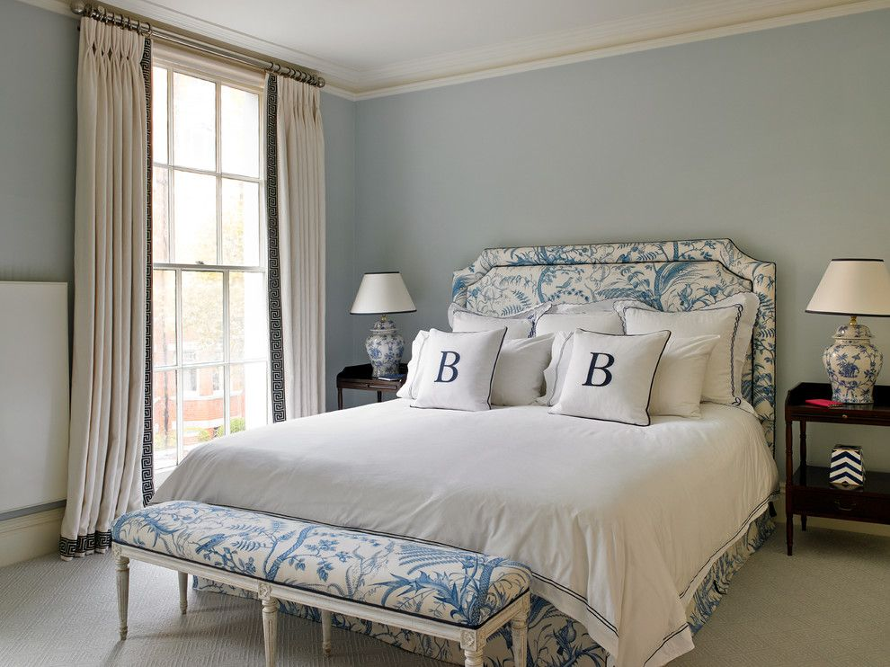 Cusion for a Traditional Bedroom with a Master Bedroom and Kensington House by Clare Gaskin