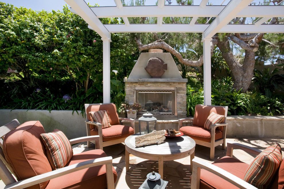 Cusion for a Traditional Patio with a Red Cushions and Traditional Patio by Syidesign.com