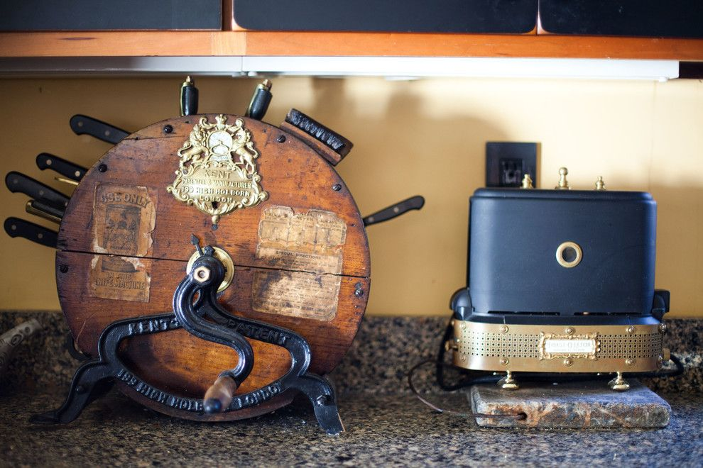 Cutco Knife Sharpening for a Eclectic Spaces with a Eclectic and Bruce Rosenbaum by Theresa Fine