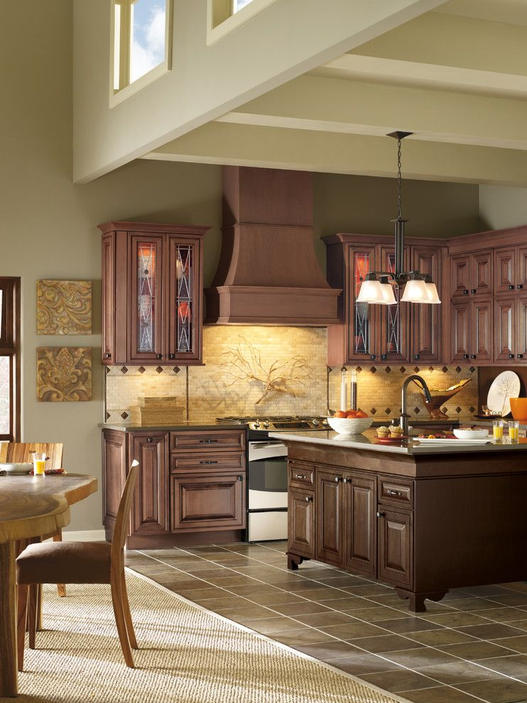 Cutigers for a Traditional Kitchen with a Kitchen Layout and Kitchen Cabinets by Capitol District Supply