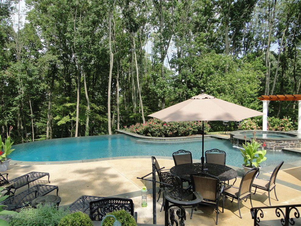 Cvs Media Pa for a Contemporary Pool with a Negative Edge Pool and Infinity Edge Elements   Media, Pa by Armond Aquatech Pools