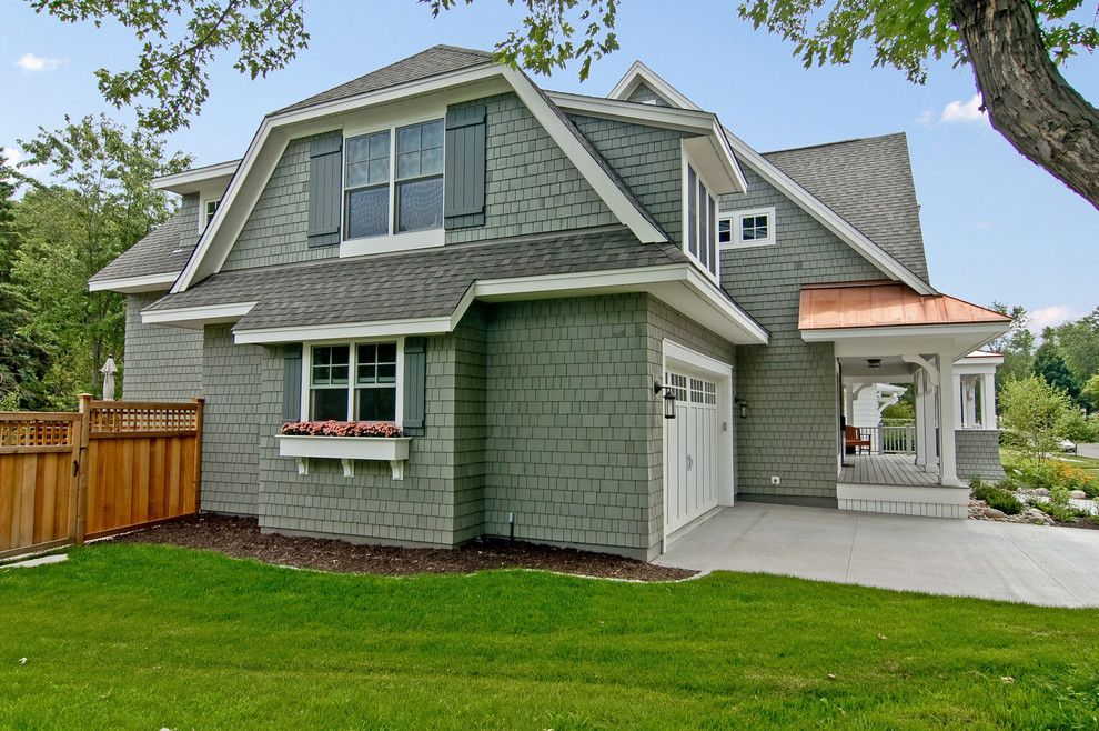 Dads Garage for a Traditional Exterior with a Gray Shutters and Great Neighborhood Homes by Great Neighborhood Homes
