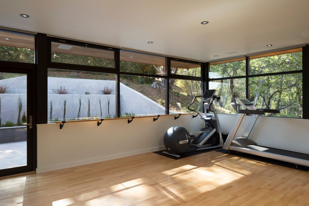 Dancing Goats Coffee for a Contemporary Home Gym with a Retainer Walls and Dance Studio by Ohashi Design Studio