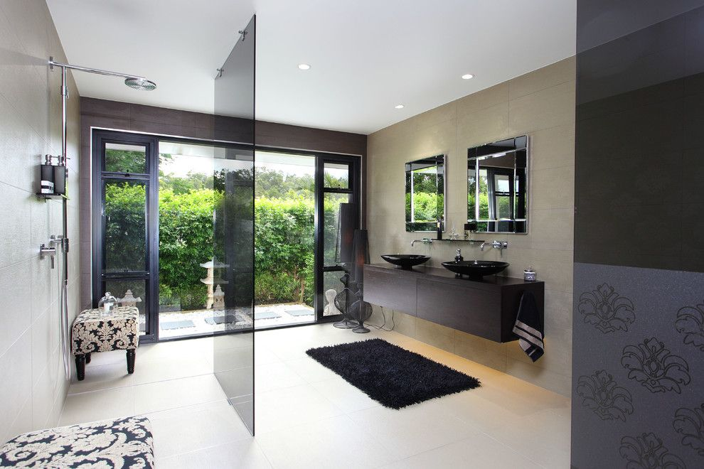 Darkside Window Tinting for a Contemporary Bathroom with a Hardscape and Award Winning Style by Divine Renovation Pty Ltd.