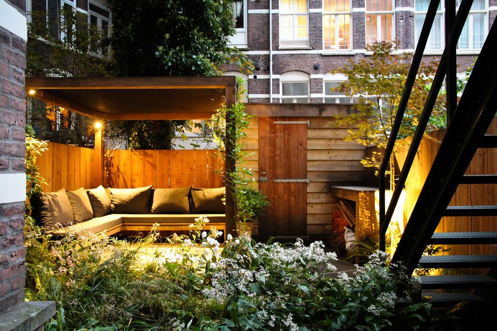 Daytime Tri Cities for a Contemporary Patio with a Landscape Lighting and Small City Garden by Boekel Tuinen