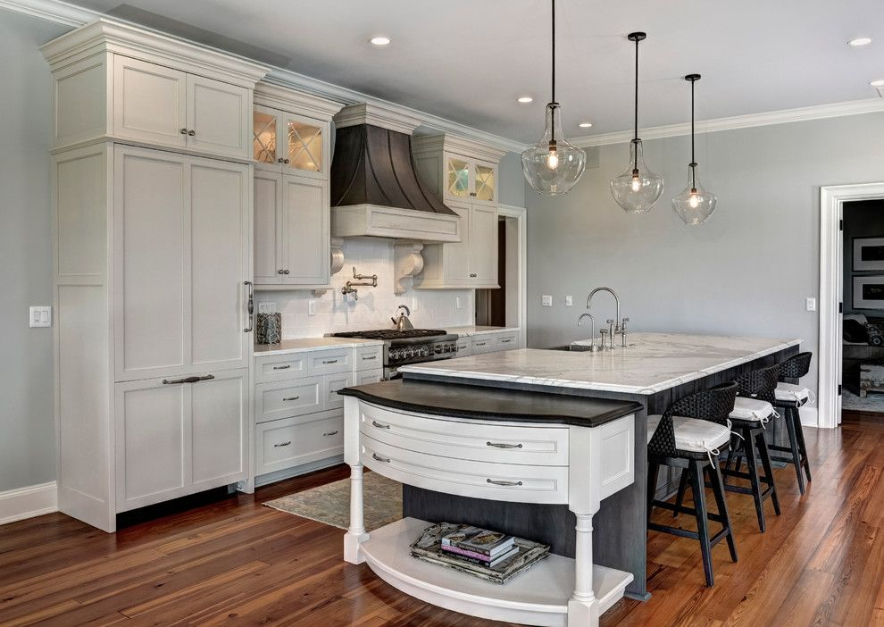 Dc2ny for a Contemporary Kitchen with a Glass Pendant and Thermador by Thermador Home Appliances