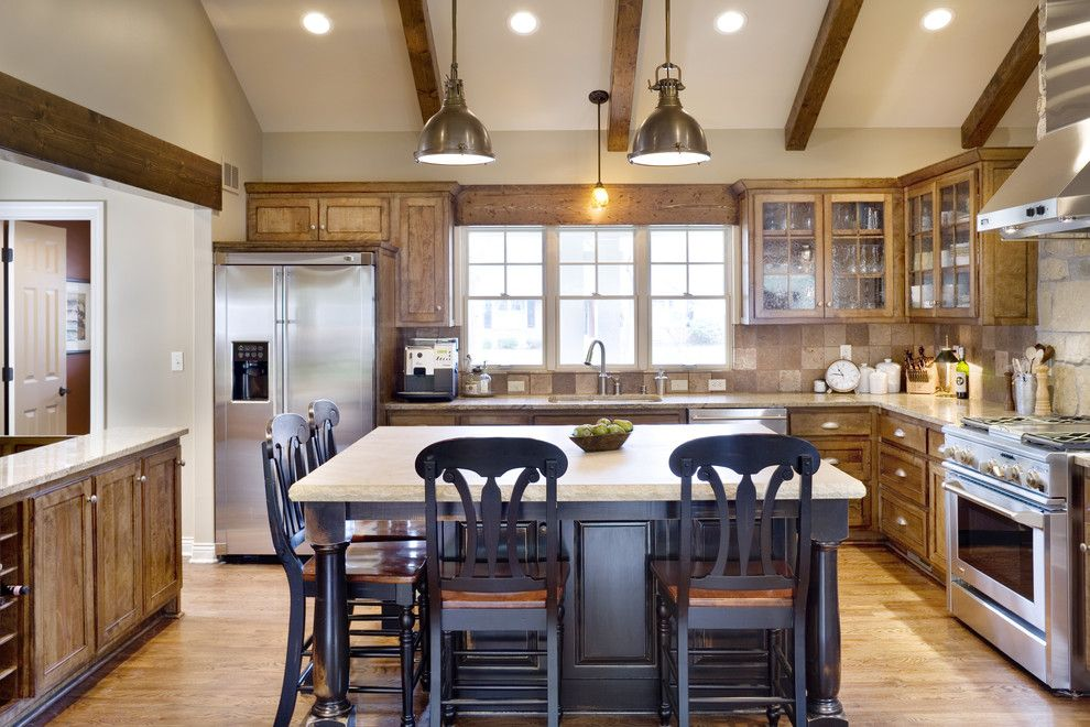 Dc2ny for a Traditional Kitchen with a Kitchen Island and Fairway Ranch Renovation Kitchen by Rothers Design/build