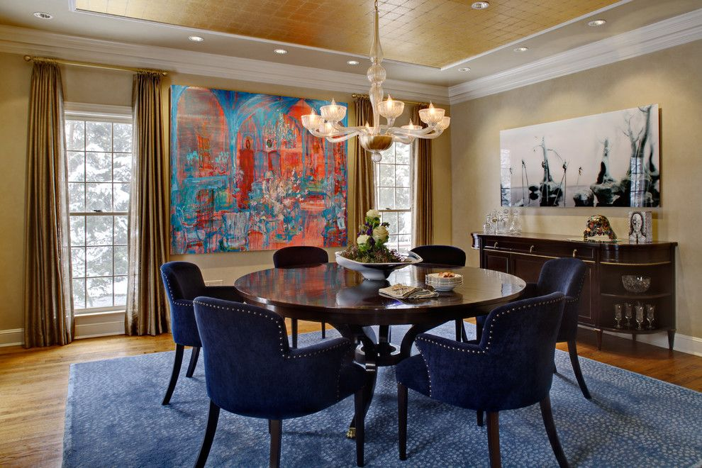 Deans Supply for a Traditional Dining Room with a Transitional Dining Room and Art Collectors' Transitional Home by Kingsley Belcher Knauss, Asid