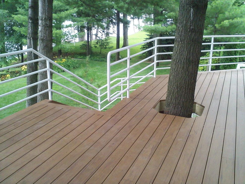 Decks and Docks for a Contemporary Patio with a Wolmanized Deck and Stained Decks by Ogne Remodeling & Roofing