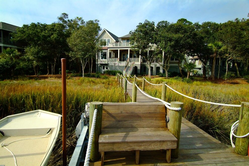 Decks and Docks for a Traditional Deck with a Covered Porch and Seabrook Island House 2 by Architrave