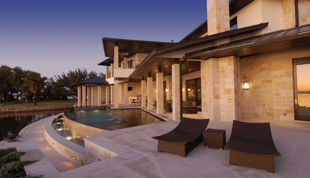 Dedon for a Contemporary Exterior with a Outdoor Living and Horseshoe Bay Lakehouse Exterior by Cornerstone Architects
