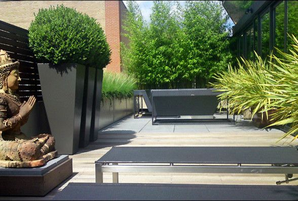 Dedon for a Contemporary Patio with a Contemporary and London E.c. Garden by Mylandscapes