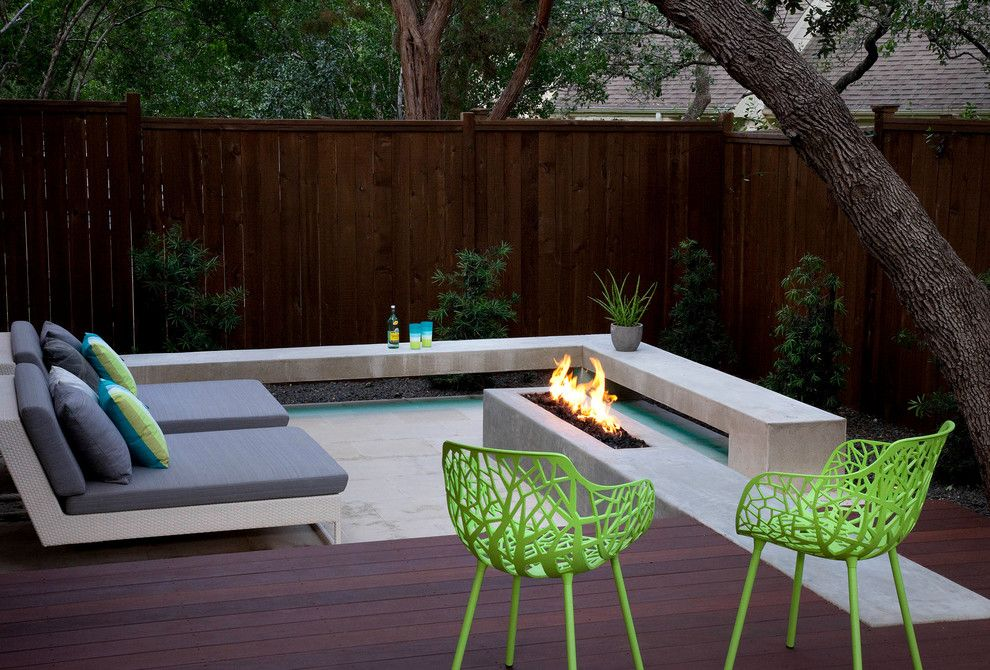 Dedon for a Contemporary Spaces with a Gas Fire and Live Eat Relax and Play in the Back Yard by Austin Outdoor Design