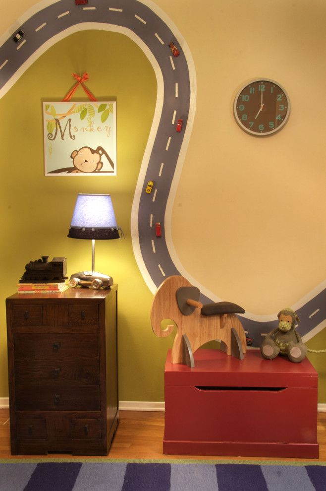 Dees Nursery for a Eclectic Kids with a Boys Room and Nursery by Nika Fouquet