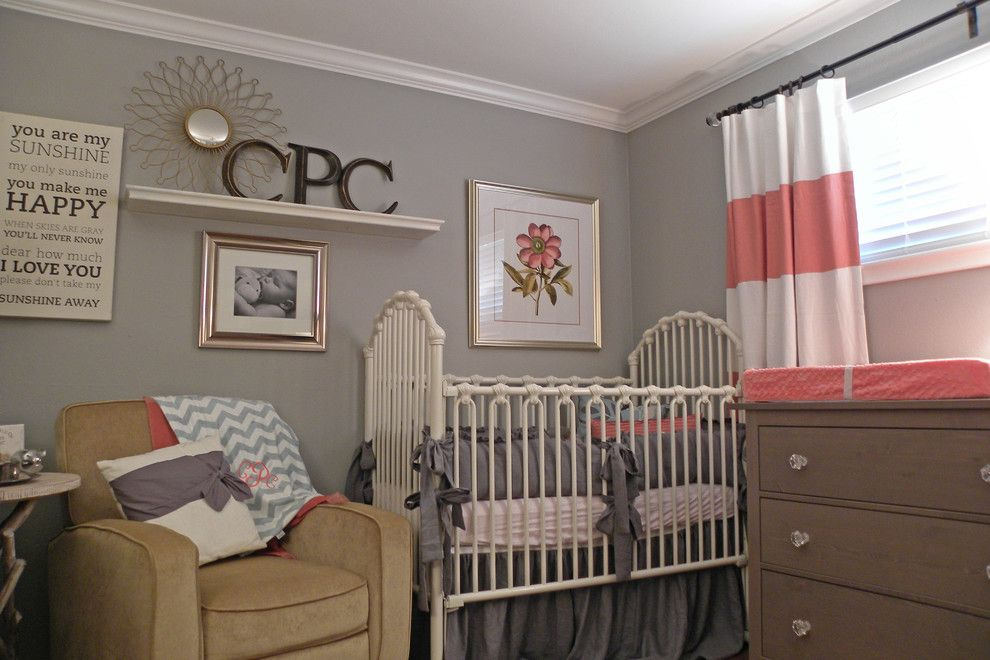 Dees Nursery for a Traditional Kids with a Girl and Dallas, Tx: James and Lynsey Purl by Sarah Greenman