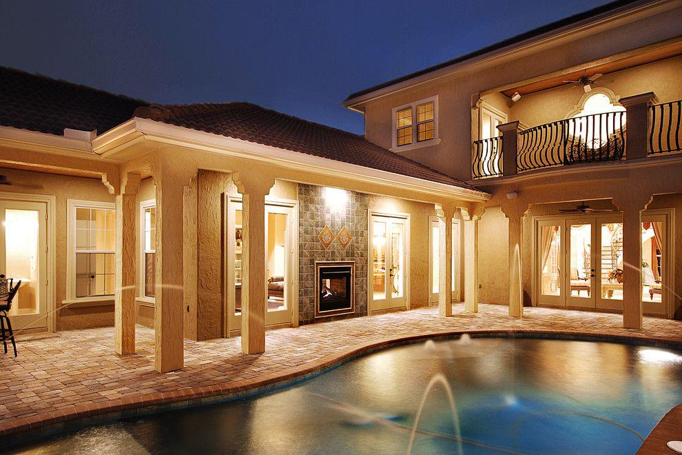 Del Webb Orlando for a Mediterranean Patio with a Turret Design and Casa Del Aqua by B&a Design Studio, Inc.