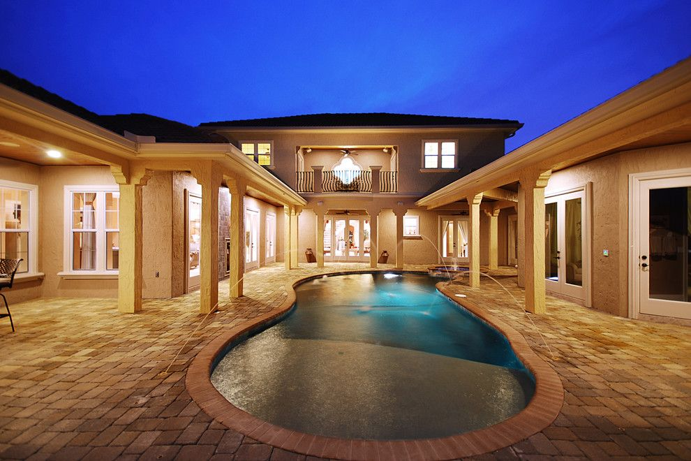 Del Webb Orlando for a Mediterranean Patio with a Turret Design and Casa Del Aqua by B&a Design Studio, Inc.