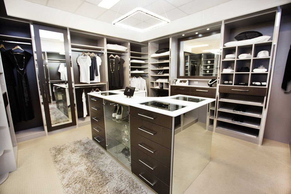 Delv for a Contemporary Closet with a Bir and Moody & Luxurious Dressing Room by Alliance Robes