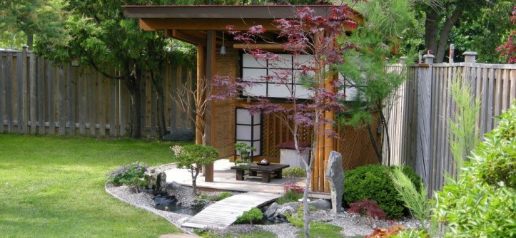 Demising Wall for a Asian Landscape with a Gazebo and My Garden by Brucele