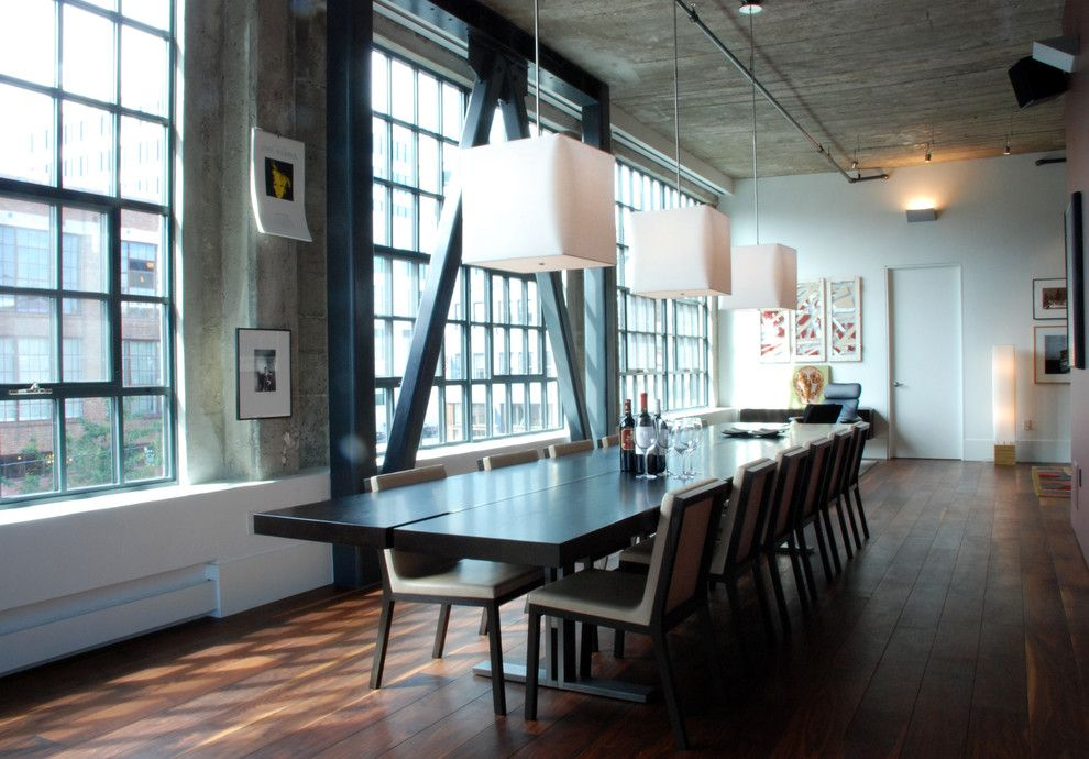 Demising Wall for a Modern Dining Room with a Cass Calder Smith and South Park Loft by Ccs Architecture