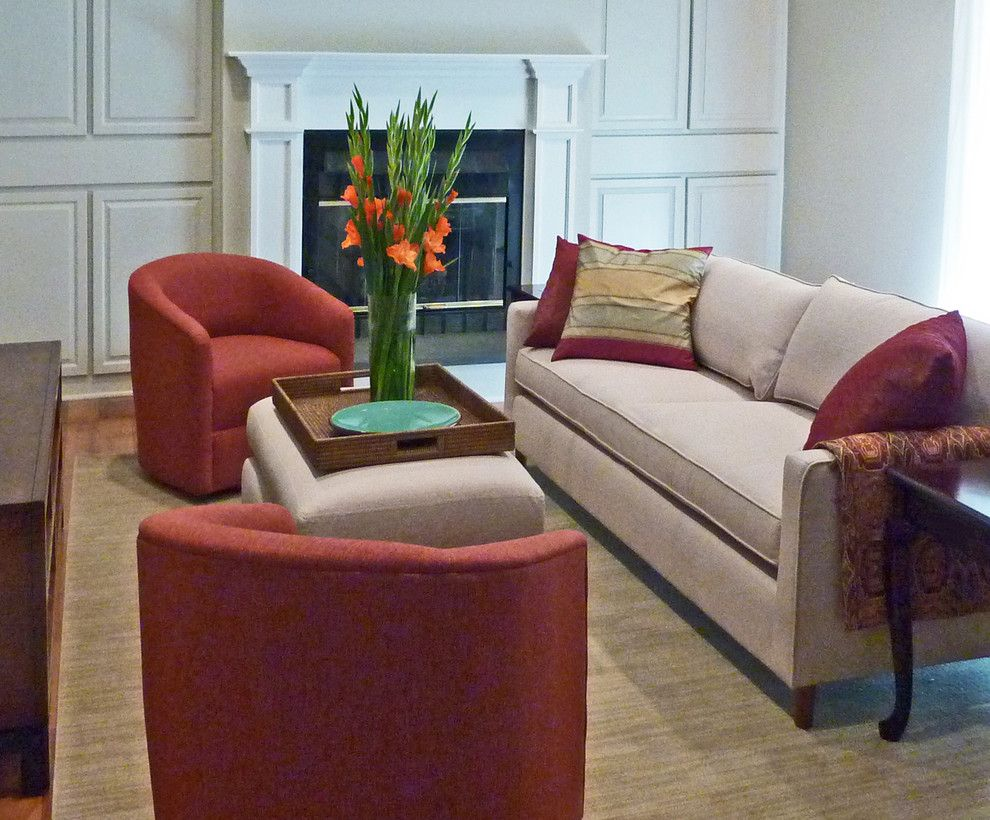 Deseret Digital Media for a Contemporary Living Room with a Fireplace and Hudson Valley Design by Hudson Valley Design