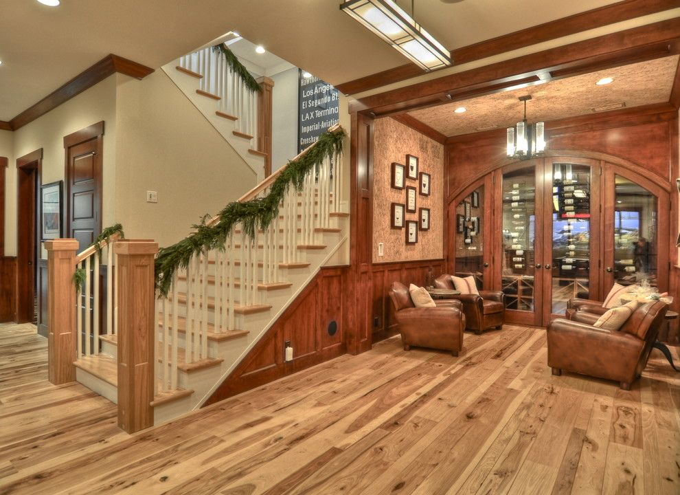 Devco for a Craftsman Basement with a Arch and Luann Development by Luann Development, Inc.