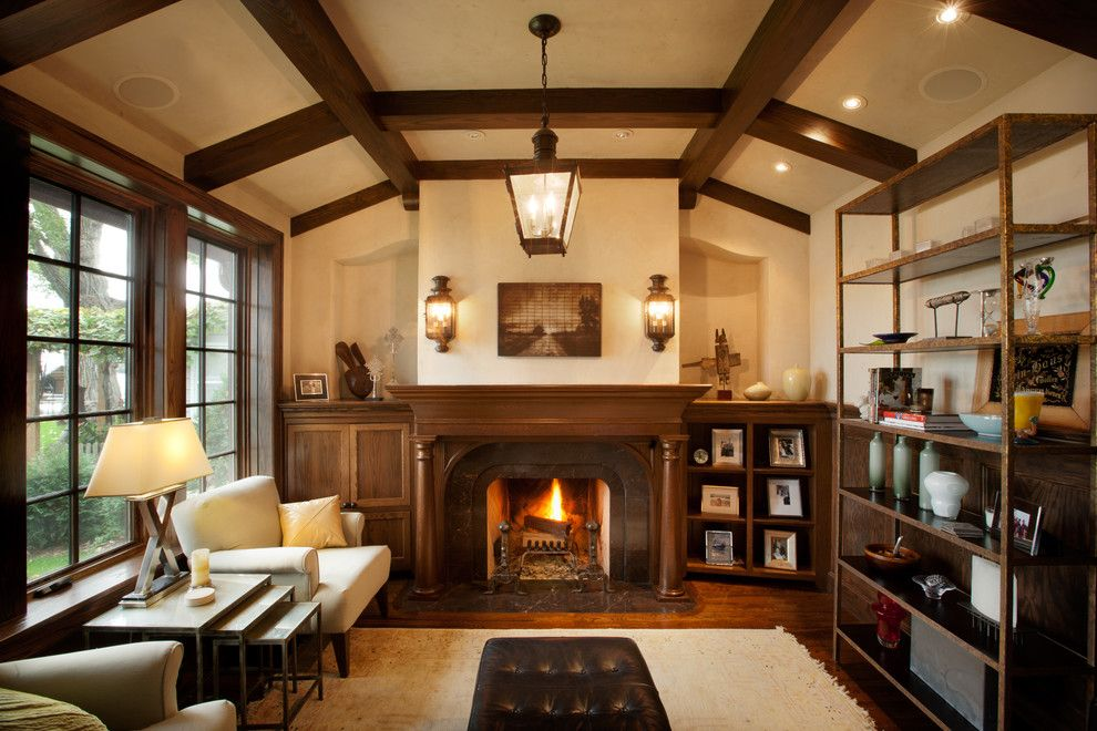 Devco for a Traditional Living Room with a Tudor and Tudor on the Point by Murphy & Co. Design