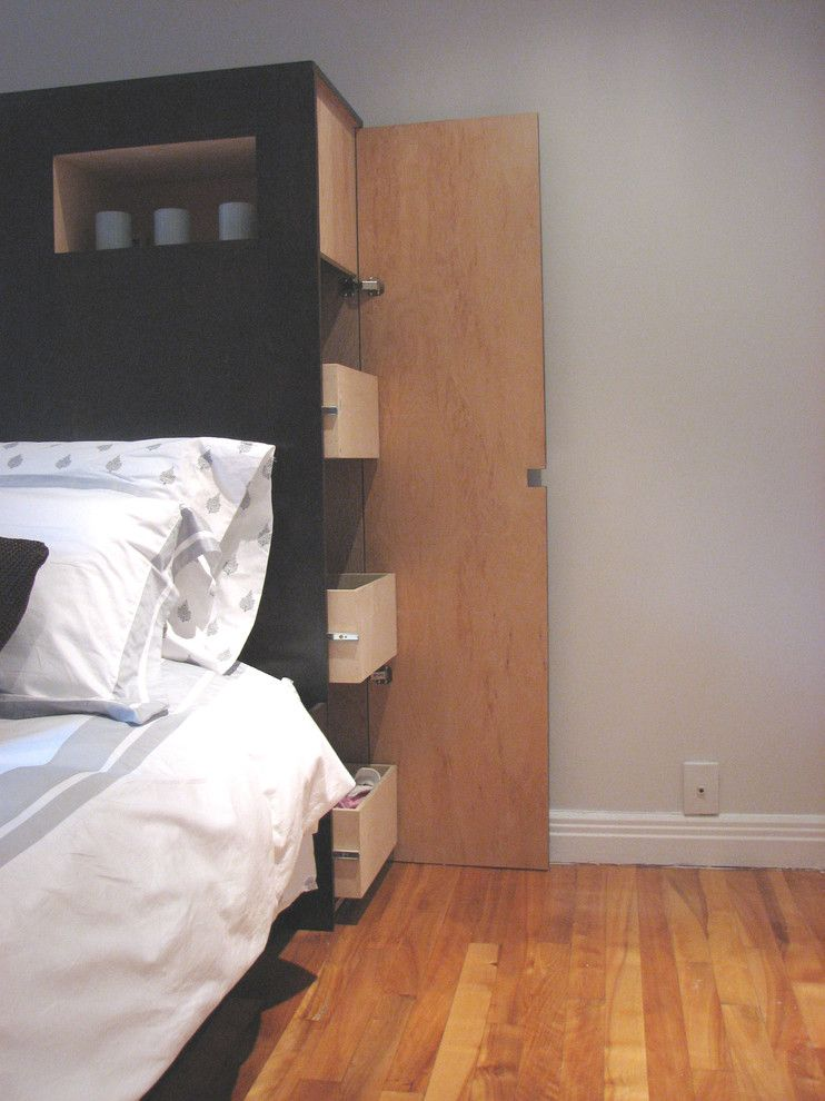 Devon Self Storage for a Contemporary Bedroom with a Headboards and Bev's by Dwelling on Design, Deborah Derocher