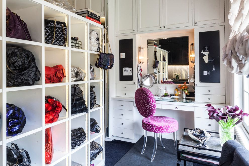 Devon Self Storage for a Traditional Closet with a Natural Lighting and Dream Closet by Marks & Frantz Interior Design