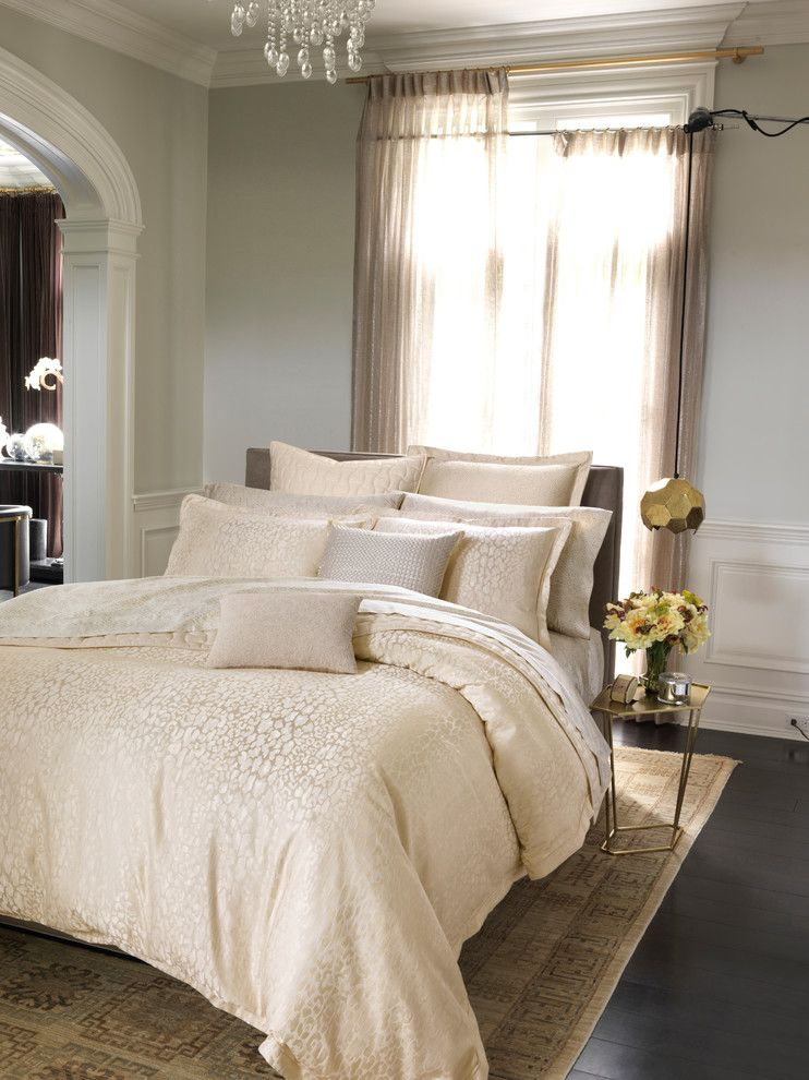 Diamond Residential Mortgage for a Contemporary Bedroom with a Contemporary and 1872 Panthera Bedding Collection by Bloomingdale's